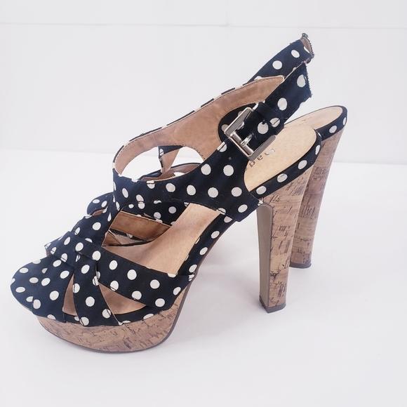 MADDEN GIRL Platform Polka Dot Heels 8.5